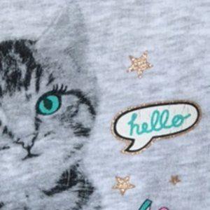 Girls Cat Sweatshirt